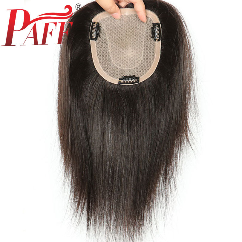PAFF Silk Base lace Toupee for women covering white hair ladies replacement realistic breathable Straight human hair Toupee