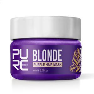 Фиолетовая Тонирующая маска для волос, шампунь, удаляет желтый фиолетовый тонер на серебристый пепельный блонд, отбеленная серая краска дл...