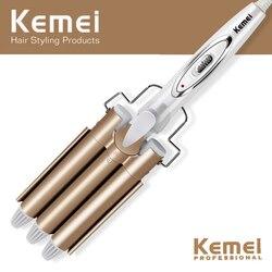 Profissional ferramentas de cabelo curling ferro cerâmica triplo barril cabelo styler waver ferramentas estilo cabelo curlers elétrica ondulação
