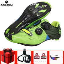 Sidebike Carbon Fiber Cycling Shoes add pedal set sapatilha ciclismo men sneakers self-Locking Road Bike Athletic Riding Shoes sidebike cycling shoes road men carbon sapatilha ciclismo mtb bike shoes zapatos bicicleta sneakers self locking white 2019 new