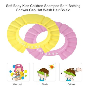 Adjustable Baby Kid Toddlers Hair Wash Hat Shampoo Bath Bathing Shower Shield Guard Baby Shield Ear Protection Cap boy фото