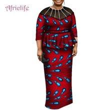 Африканский Женский комплект с рукавом три четверти из вощеного