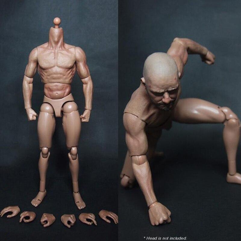 1//6 Corps Musculaire Masculin Squelette En Acier Pour La Tête De Jouets
