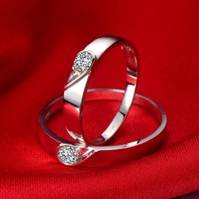 18ct Gold Diamond Couple Set Rings Wedding Bands Engagement Rings for Men Women Free DHL Shipping
