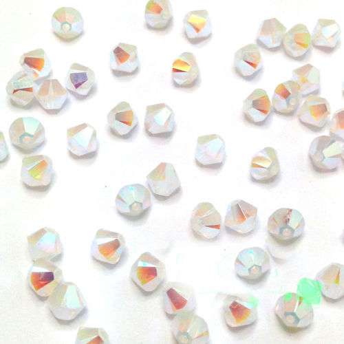 BEAUCHAMP 4 мм хрустальные бусины форма биконуса камень ювелирных изделий кисточкой Лариат серьги стекло кварцевые Амулеты Браслет аксессуары - Цвет: picture color