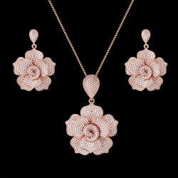 Zlxgirl – ensemble de colliers en zircon pour femmes, bijoux de mariée classique nigérian, en zircon CZ, dubaï