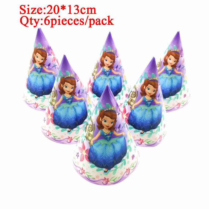 Śliczna księżniczka zosia z kreskówki jednorazowy kubek papierowy talerze serwetki Banner obrus Baby Shower materiały do dekoracji przyjęcia urodzinowego