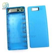 8X18650 Power Bank Battery Box Mobile Phone Charger Dual USB DIY Shell Case LCD Display 5V цена