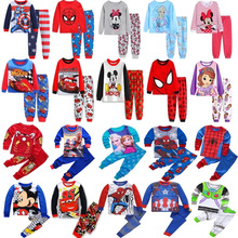 Boys Sleepwear Pyjamas Spider-Pajamas-Set Spring Baby-Girls Kids Cotton Children's Cartoon