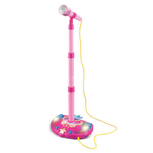 Microphone-Toy Stand Musical-Instrument Karaoke Adjustable Girls Kids with Light-Effect