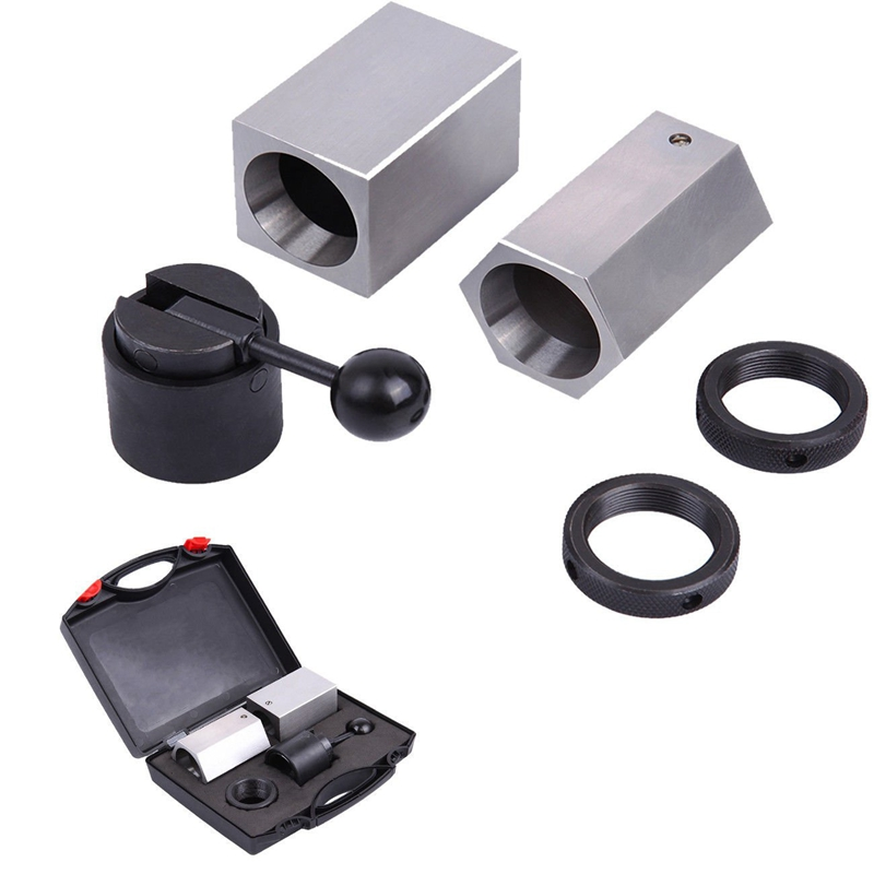 5C CB Collet Block Set Four Sided & Six Sided Hardened Precision Ground 5C Collet Fixtures Square Hex Chuck Rings Closer Holder|Lathe| |  - title=