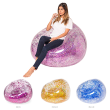 Large Inflatable Sofa Chair Flocking PVC Garden Lounge Beanb