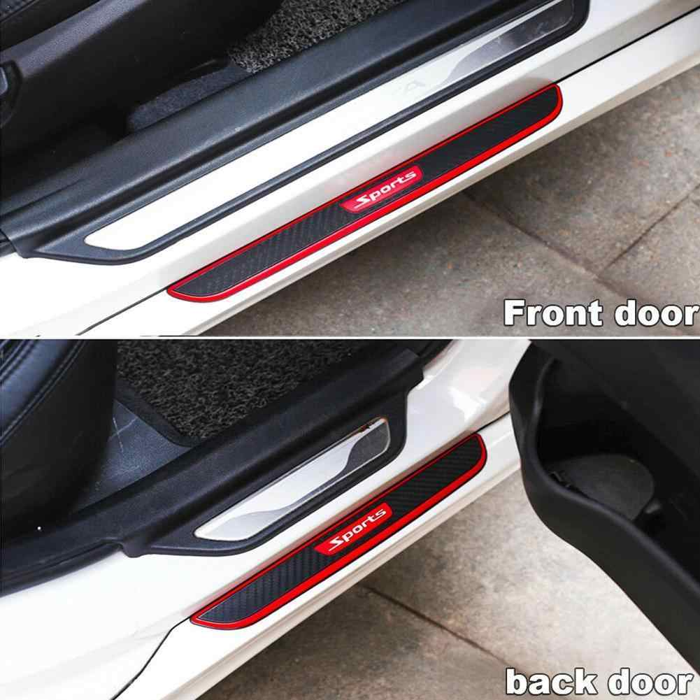 4Pcs//Set Rubber Moulding Trim Cover For Car Door Sill Welcome Pedal Sports Style