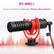 BOYA BY-MM1+ Super Cardioid Shotgun Microphone 3.5mm Headphone TRS TRRS Output for Smartpho
