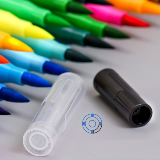 Фото 12/24 цвета двухсторонний мягкий наконечник маркер для рисования цена