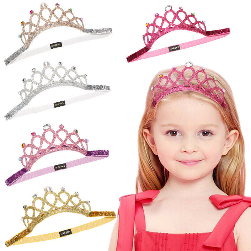 2019 Brand Hair Accessories Baby Girl Crown Hairband Toddler Headband Kid Tiara Birthday Princess Costume Headwear