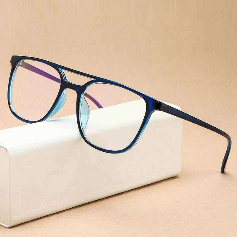 KOTTDO Square Oversized Reading Glasses Frame Men Ultra-light Retro Computer Eye Glasses Frames For Women Uv400 Eyewear Frame