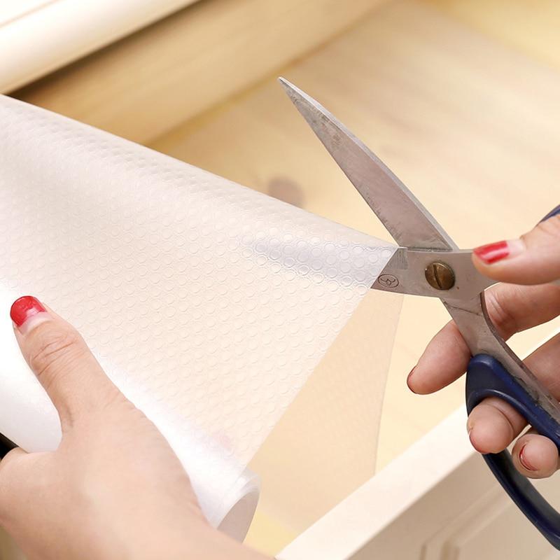 Reusable Transparent Drawer Mat Cabinet Mat Waterproof Dustproof Contact Paper Moisture-proof Washable Shelf Drawer Liner