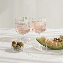 Cutelife скандинавский Ins стеклянный бокал, кофейная чашка, посуда для напитков, свадебное вино, виски, пиво, бокал для воды, прозрачная Милая сте...