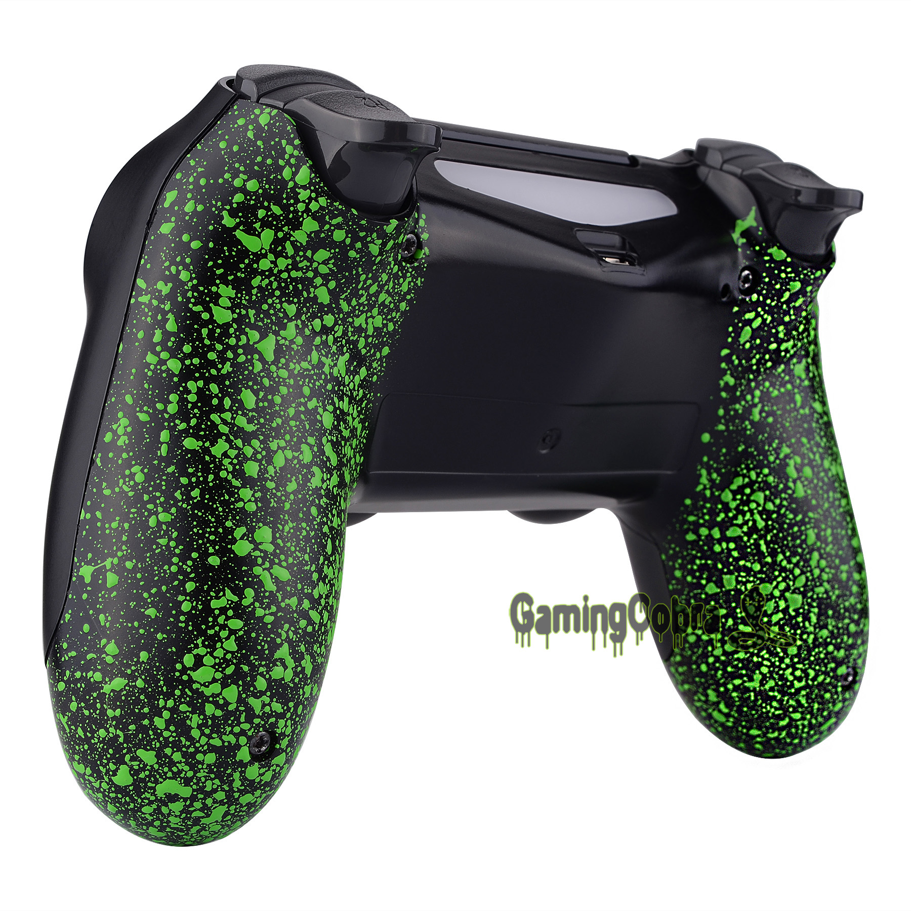 Textured Green Comfortable Non-slip Back <font><b>Shell</b></font> for PS4 /Slim/Pro Game Controller <font><b>JDM</b></font>-040 <font><b>JDM</b></font>-050 <font><b>JDM</b></font>-<font><b>055</b></font> #SP4BR05 image