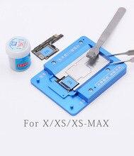 MJ Z13 Metall Zinn Pflanzung Plattform Mit BGA Reballing Schablone Für IPhone X XS XS MAX Löten Reparatur Werkzeuge