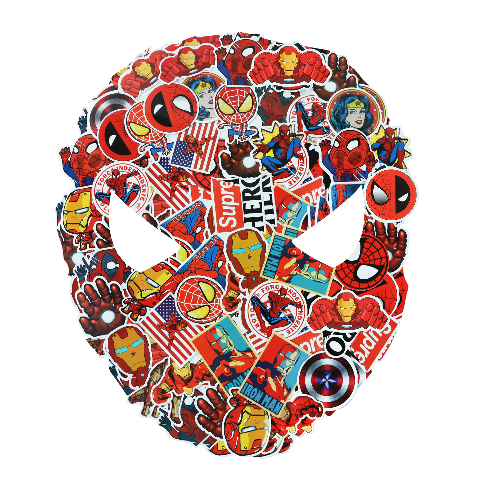 52 / 25 Pcs/Set JDM Super Hero Stickers For Marvel The Avengers For Luggage Laptop Motorcycle Guitar DIY PVC Waterproof Sticker