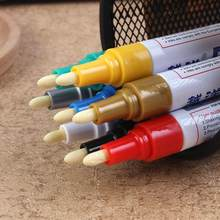 12 Colors Highlighter Pen Office Doodle Pen Permanent Paint Marker Pen For Car Tyre Tire Tread CD Metal Mark Record journaling(China)