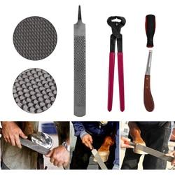 Pinza de pezuña Para Caballo de herradura, Asa raspadora, cortador de pezuña, accesorio para el cuidado de los caballos, 4 Uds.