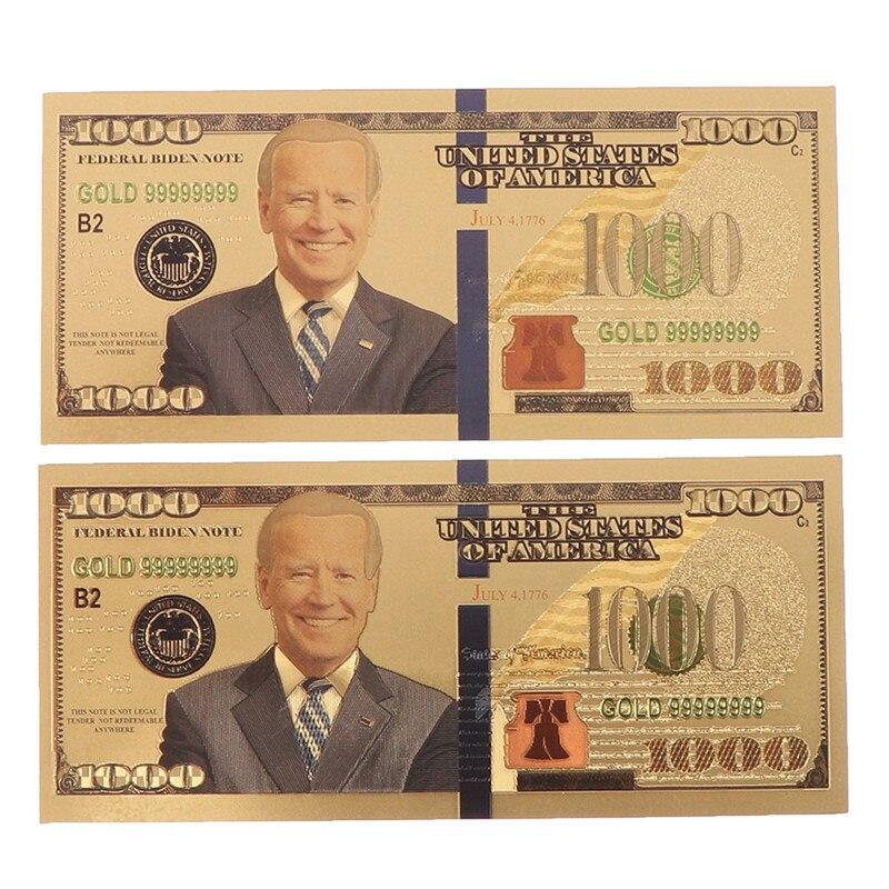 Nouveau billet de banque commémoratif plaqué or