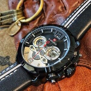 Image 4 - NAVIFORCE Creative Mens Watch Fashion Sports Watches Waterproof Leather Analog Quartz Wrist Watch Men Clock Relogio Masculino