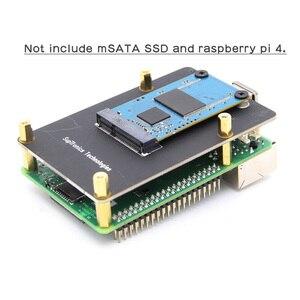 Image 3 - ラズベリーパイ 4 msata ssd ストレージ拡張ボード X857 USB3.1 シールドラズベリーパイ 4B
