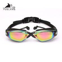 نظارات الوقاية للسباحة المهنية دائم نظارات سباحة من السيليكون مكافحة الضباب المضادة للأشعة فوق البنفسجية للماء الكبار الساحة نظارات سباحة الملونة