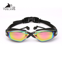 Swimming Goggles Professional Durable Silicone Swimming Goggles Anti fog Anti UV Waterproof adult arena Swimming Glasses colored|Swimming Eyewear|   -