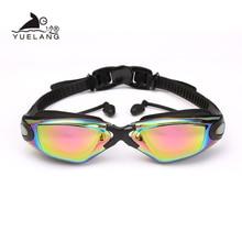 Zwembril Professionele Duurzaam Siliconen Zwembril Anti fog Anti Uv Waterdichte volwassen arena Zwemmen Bril gekleurde