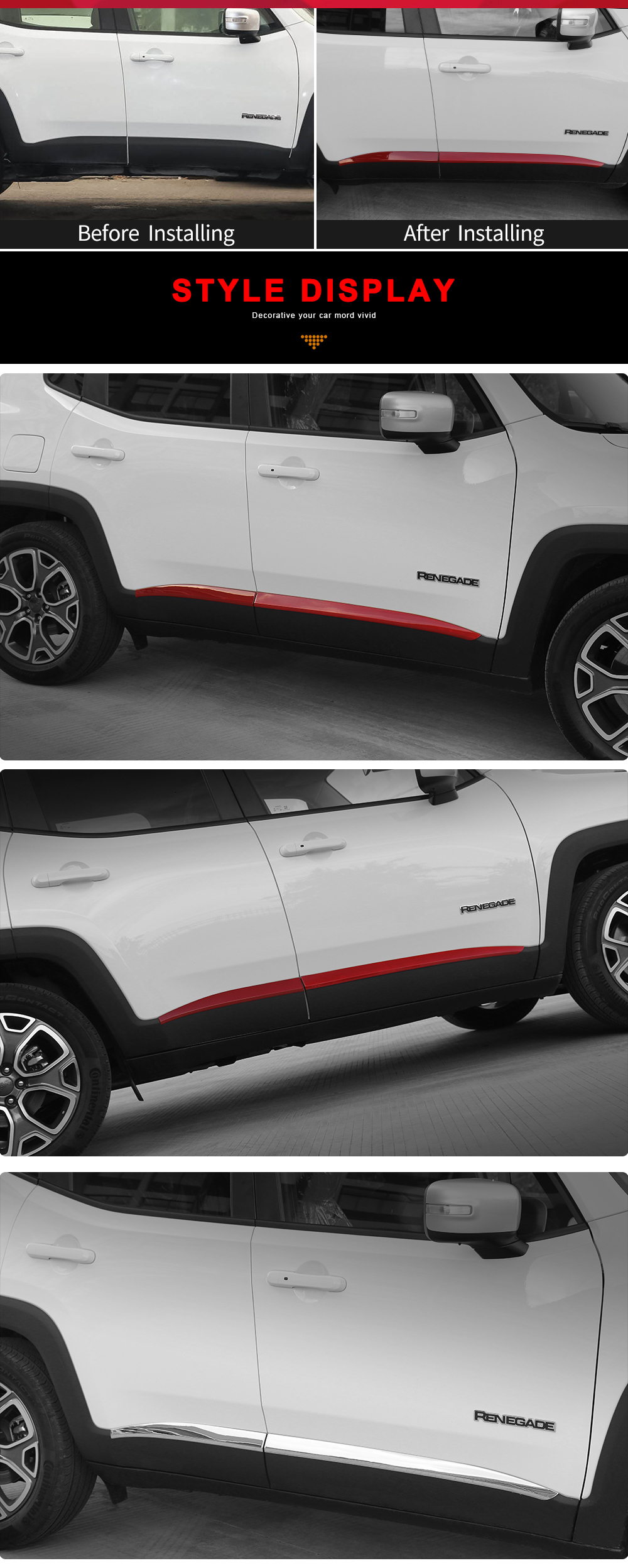 2*White ABS Trunk Sundry Net String Bag Frame Trim For Jeep Renegade 2015-2018