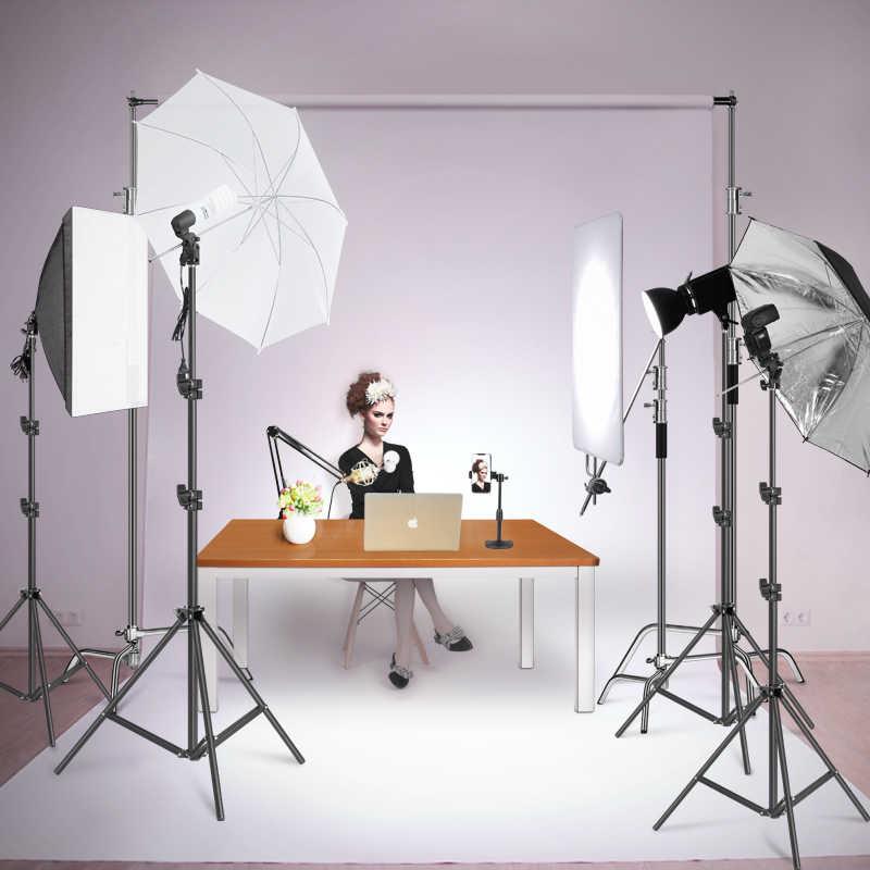 2 m/6.5ft Studio Professionale Regolabile Soft Box Flash Continuo Della Luce Del Basamento Del Treppiedi