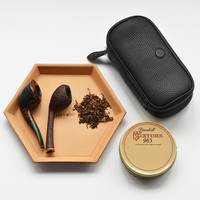 One Leather Portable Pipe Pouch Pipes for Smoking Weed Tobacco Pouch Pipe Bag Smoking Accessories Smoke Pipas Men Gift