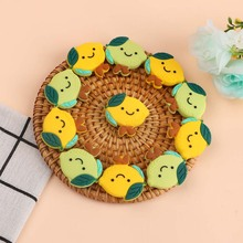 Baby Necklace Silicone Beads Teething-Toys of Kovict Lemon 10pcs Different-Colors Food-Grade