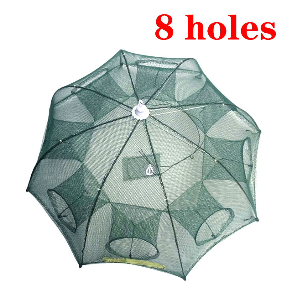 4/6/8 Hole Magic Chinese All/Mesh For Fishing Net/Trap/Tackle Folding/Gill Casting Network  Fish/Crayfish/Crab Trap Catcher Tank