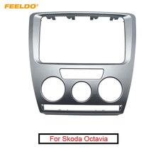 Автомобильный DVD/CD радиоприемник, стерео 2DIN, рамка для сборки панели, комплект установочного крепления Facia Trim для Skoda Octavia(2007 ~ 2009), руководство A/C
