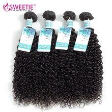 Sweettie – Extensions de cheveux Afro 100% naturels, cheveux crépus bouclés indiens vierges, 30 pouces, offre en lots de 3 ou 4