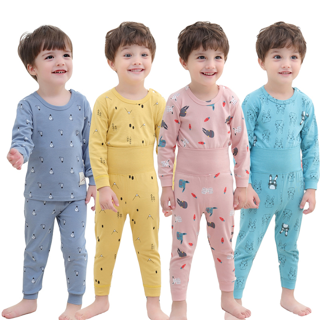 Baby Girls Clothing Pants Set Toddler Baby Boy Outfits For Babies Girl Pajamas Sets Kids Suit Infant Boys Children Clothes Suits 1