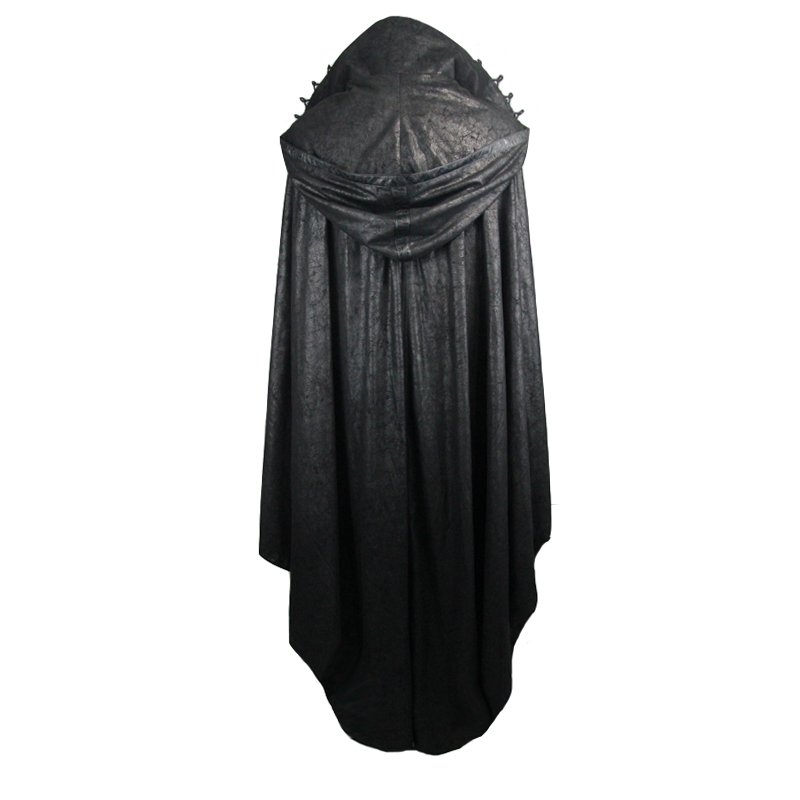 Duivel Mode Vrouwen Gothic StyleMysterious Losse Lange Mantel Jassen Halloween Vleermuis Trenchcoats Cape - 5