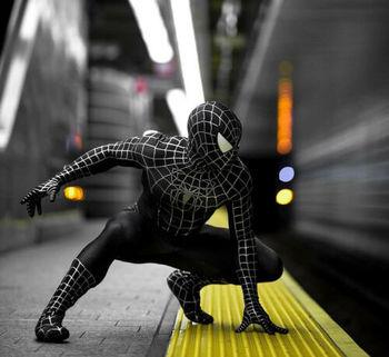цена на Spiderman Costume The Amazing 3 Spiderman Black Venom Tights Cosplay Costume Lycra Zentai Suit