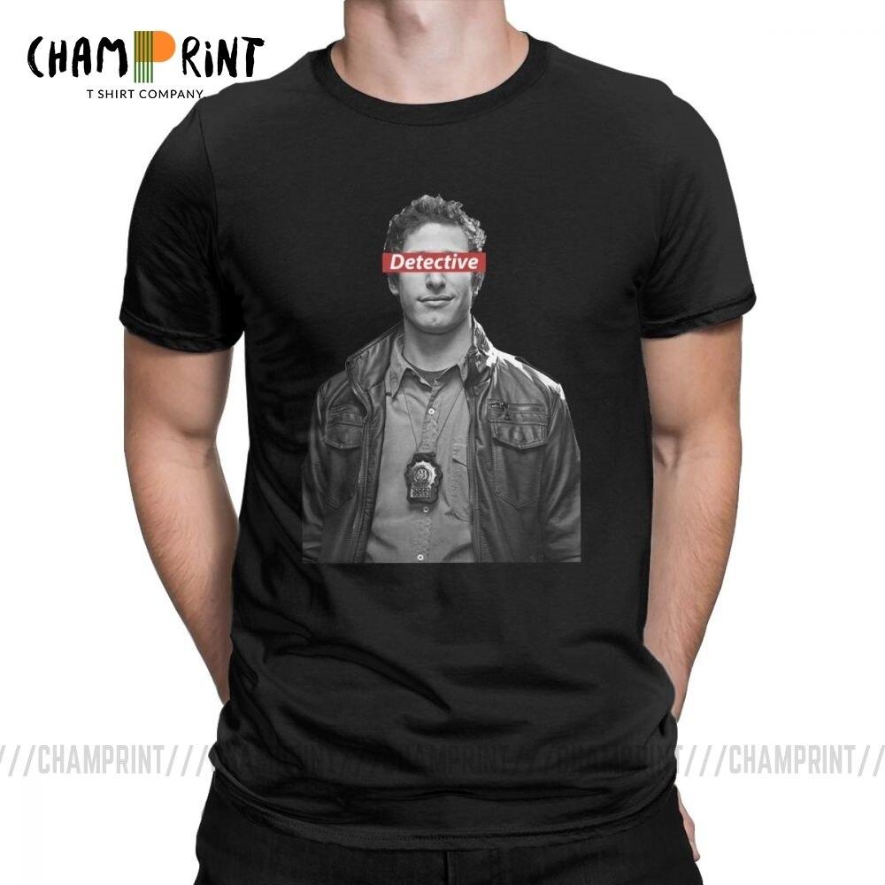 Brooklyn nove 99 camisetas masculinas andy samberg novidade puro algodão manga curta t-shirts em torno do pescoço adulto topos mais tamanho