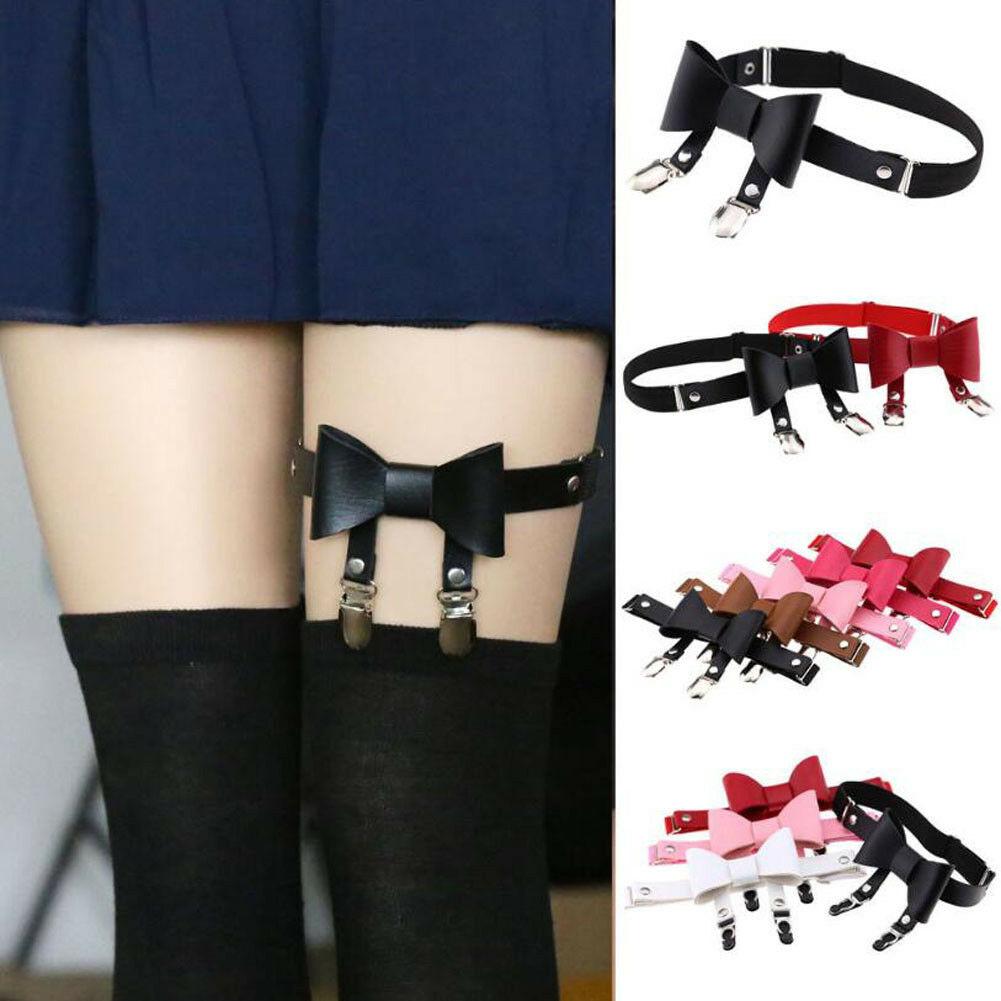 6 Colors Sexy Women Elastic Garter Belt Harness Leg Ring Suspenders Punk Gothic