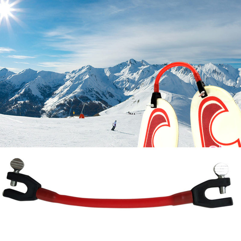 Winter Ski Connector Elastic Clip Child Protection Latex Sports Training Compact Simple Wedge Removable For Beginners
