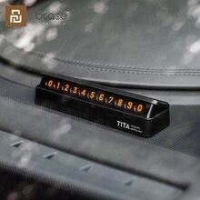 شاومي TITA المغناطيسي وقف تسجيل بطاقة وقوف السيارات لسيارة نقل الفلورسنت رقم الهاتف ملصق ستيريو عكس غير مرئية