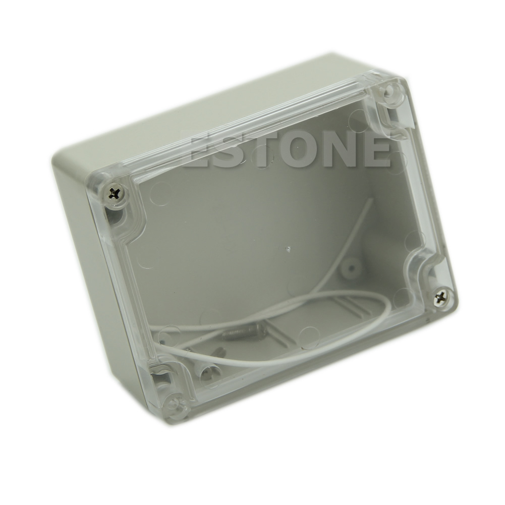 Plastic Waterproof Clear Cover Electronic Project Box Enclosure Case 115x90x55MM