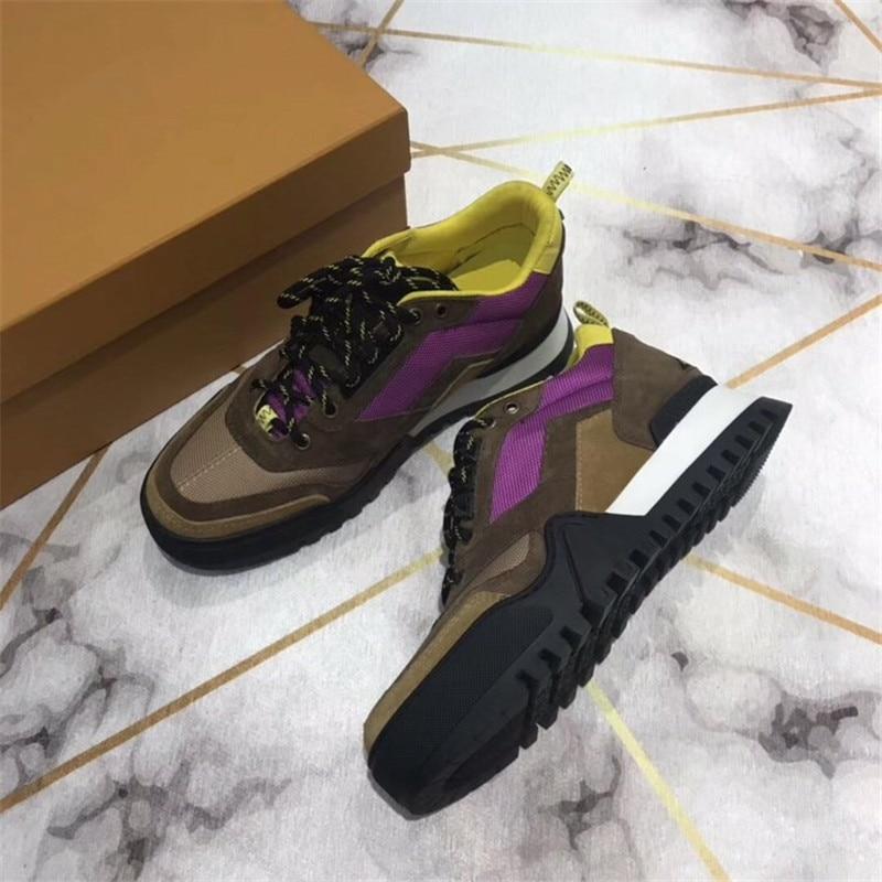 Designer Luxus Socke Schuhe Atmungsaktiv casual Schuhe Für Männer Neue joint Leder Trainer Marke Mode Turnschuhe 39 45 - 2
